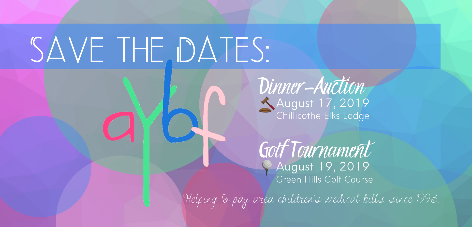 AYBF Save the Dates!