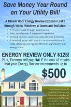 Home Energy Reviews are only $125!